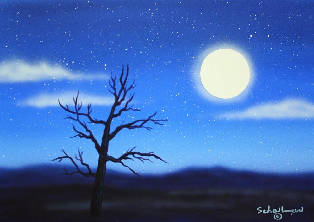 """The Moonlight Waits"" original fine art by Fred Schollmeyer"