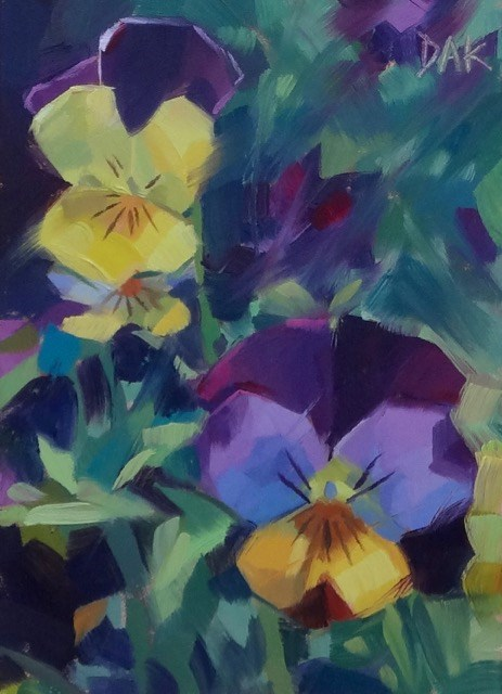 """Violas"" original fine art by Deborah Ann Kirkeeide"