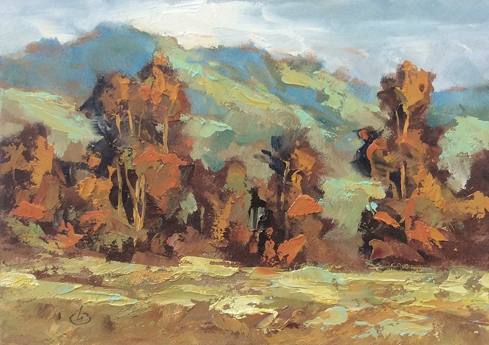 """CALIFORNIA HILLS"" original fine art by Tom Brown"
