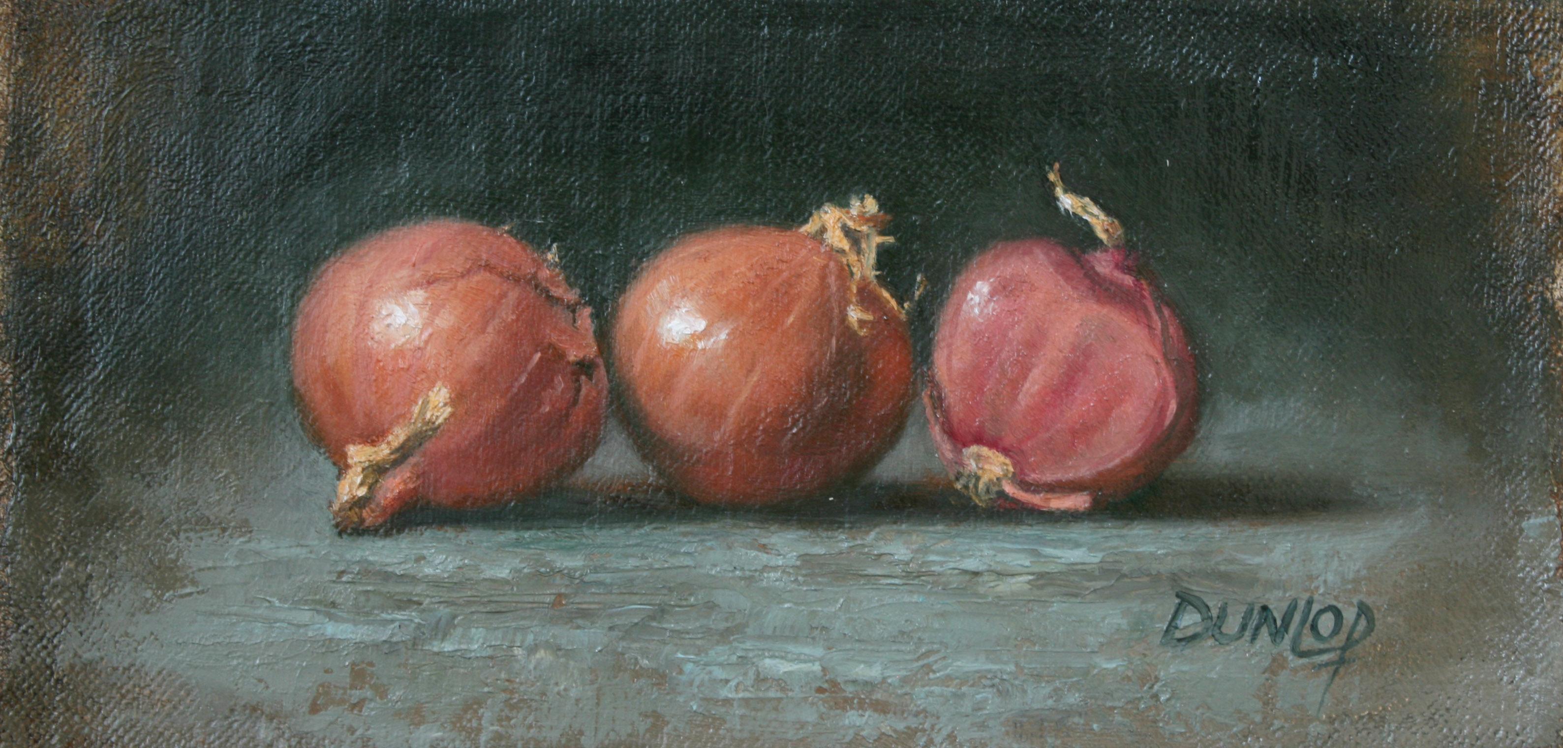 """Two and A Half Shallots"" original fine art by Bobbi Dunlop"