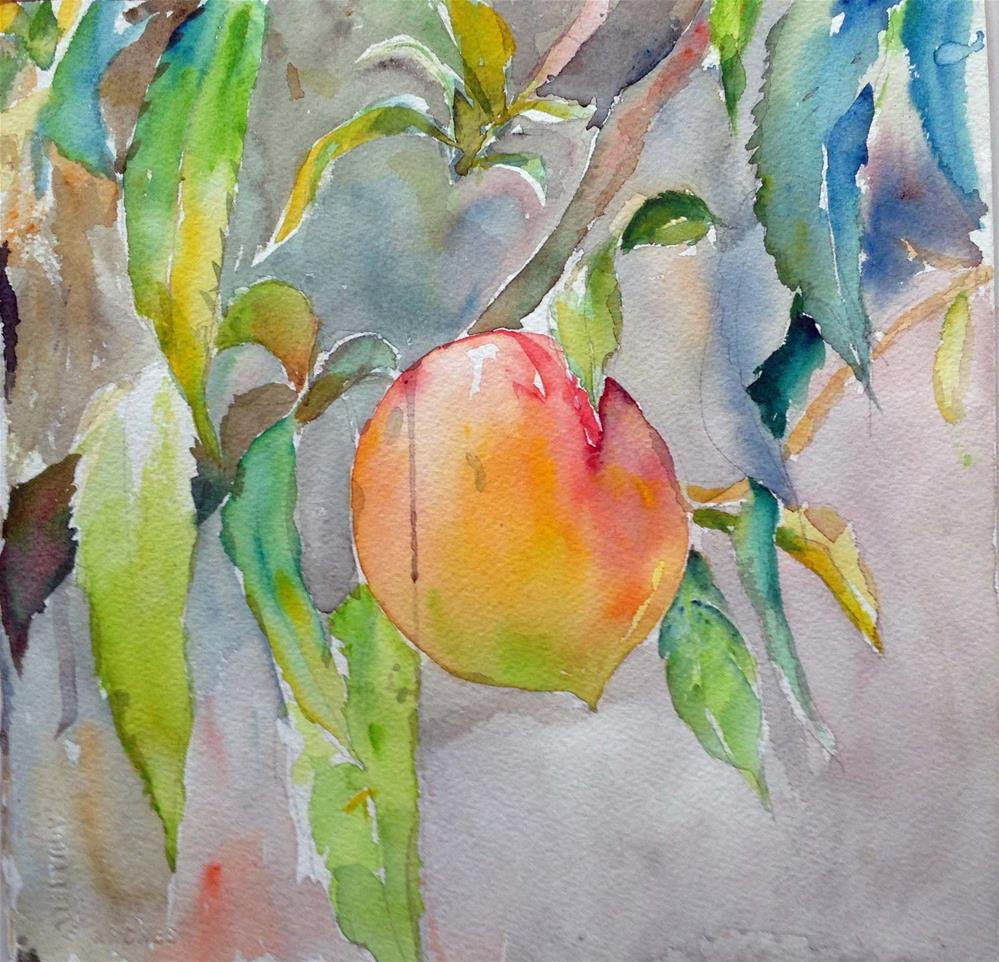 """Ripe peach"" original fine art by Wenqing Xu"