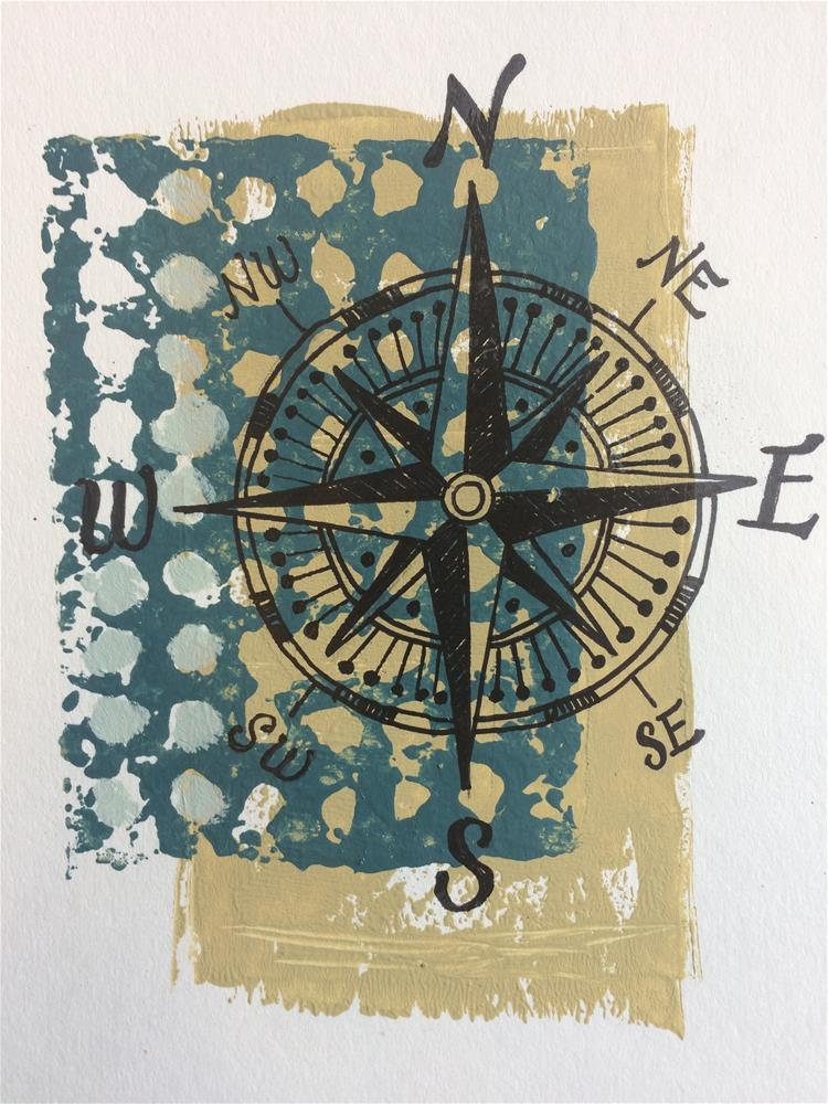 """Compass Print"" original fine art by Teddi Parker"