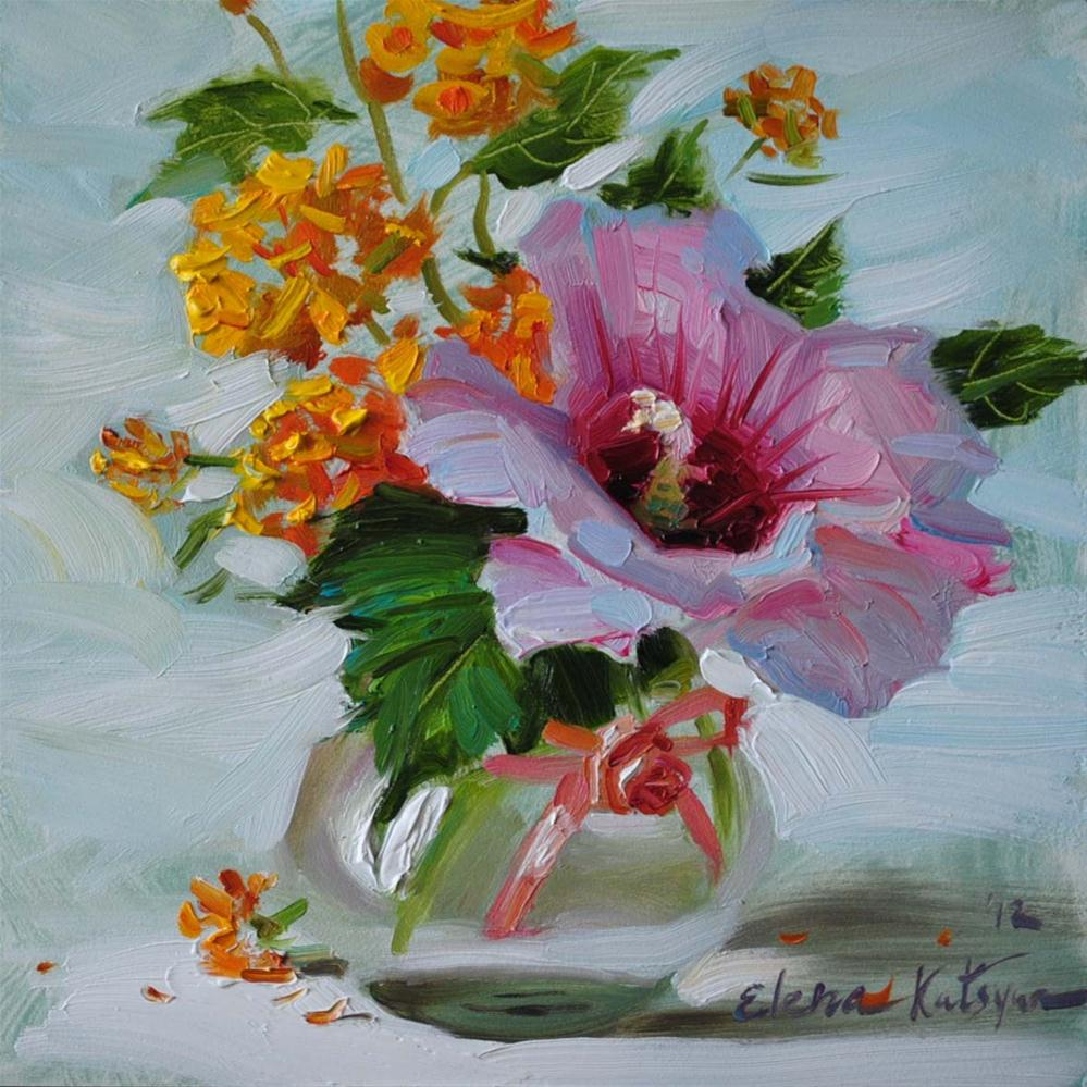 """August Bouquet"" original fine art by Elena Katsyura"