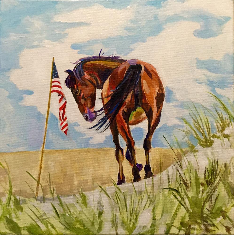"""Patriotic Pony"" original fine art by Lauren Kuhn"