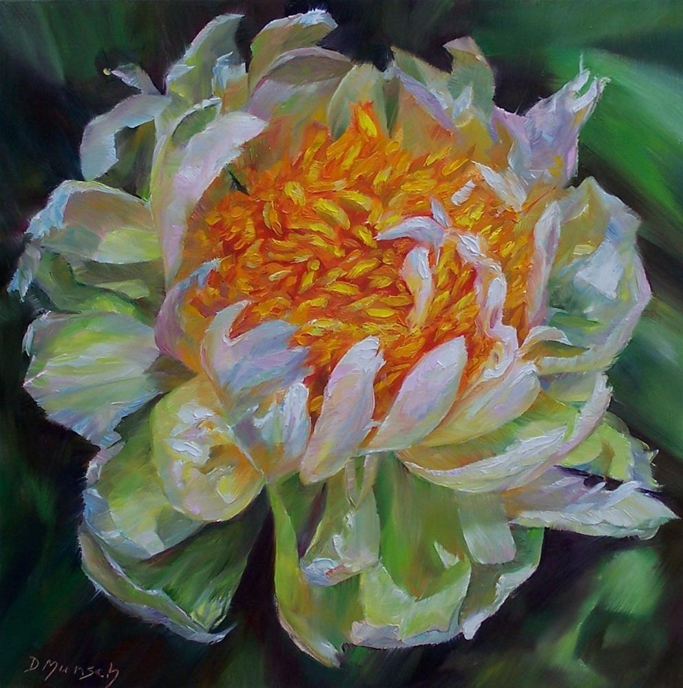 """Pom Pom Peony"" original fine art by Donna Munsch"