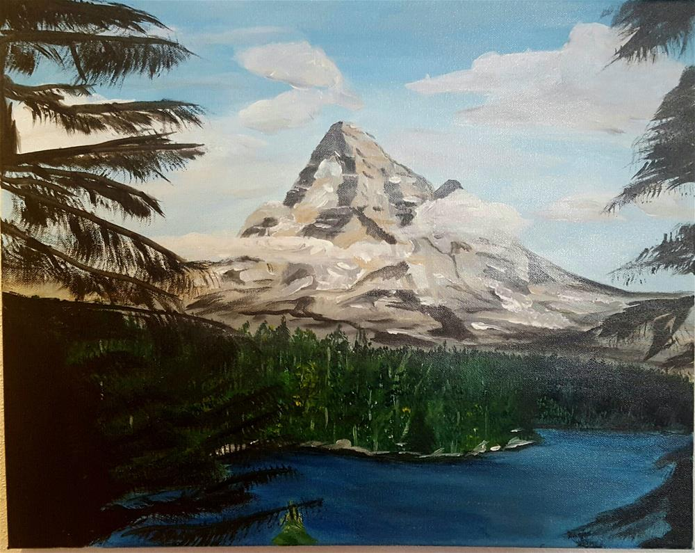 """Mt. Hood"" original fine art by Joan Anderson"