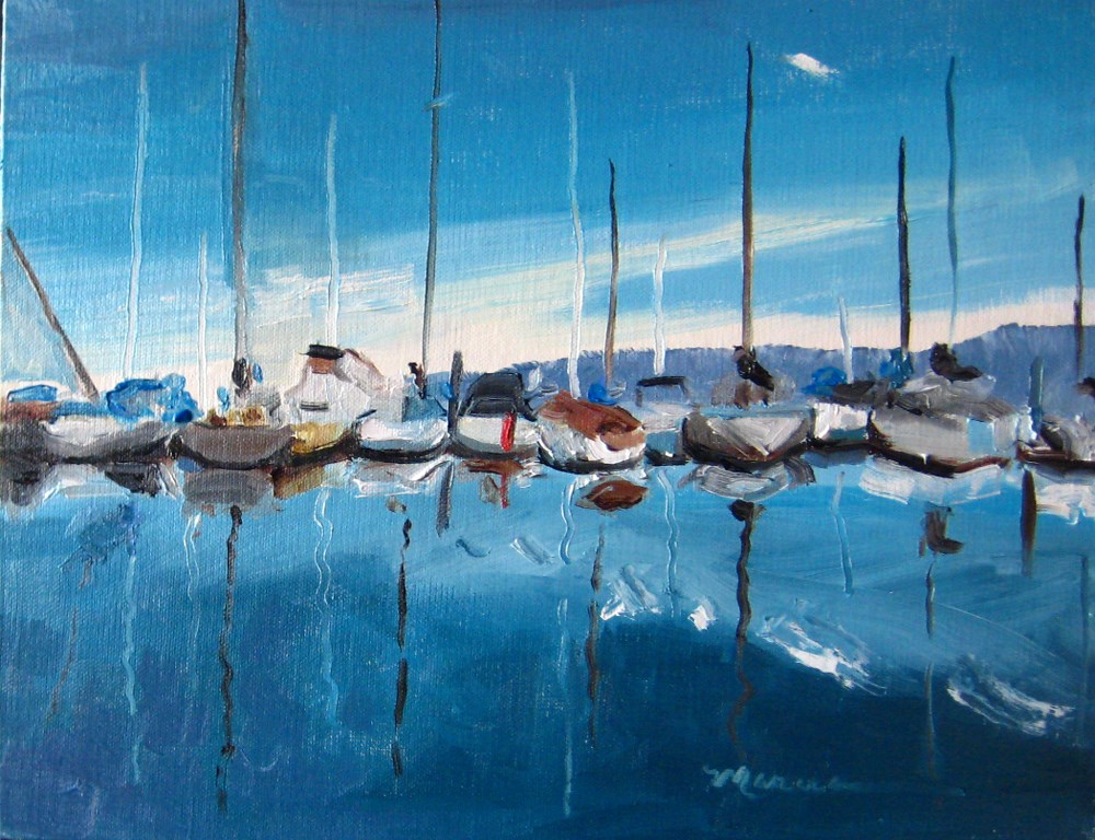 """Docked"" original fine art by Marcia Hodges"