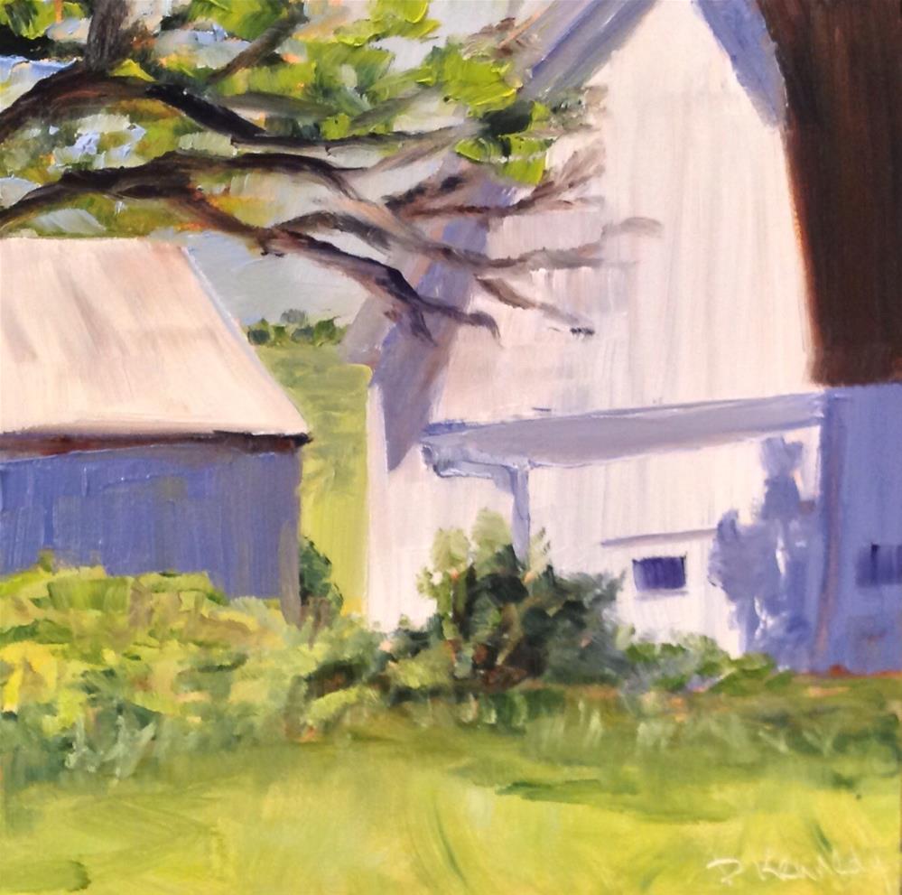 """White Barns"" original fine art by Debra Kennedy"