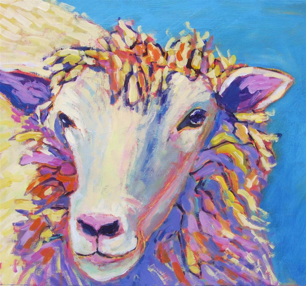 """Sheepish"" original fine art by Patricia MacDonald"