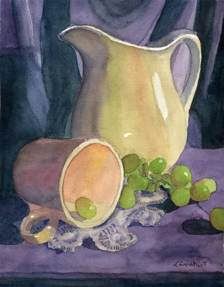 """Drapes and Grapes"" original fine art by Lynne Reichhart"