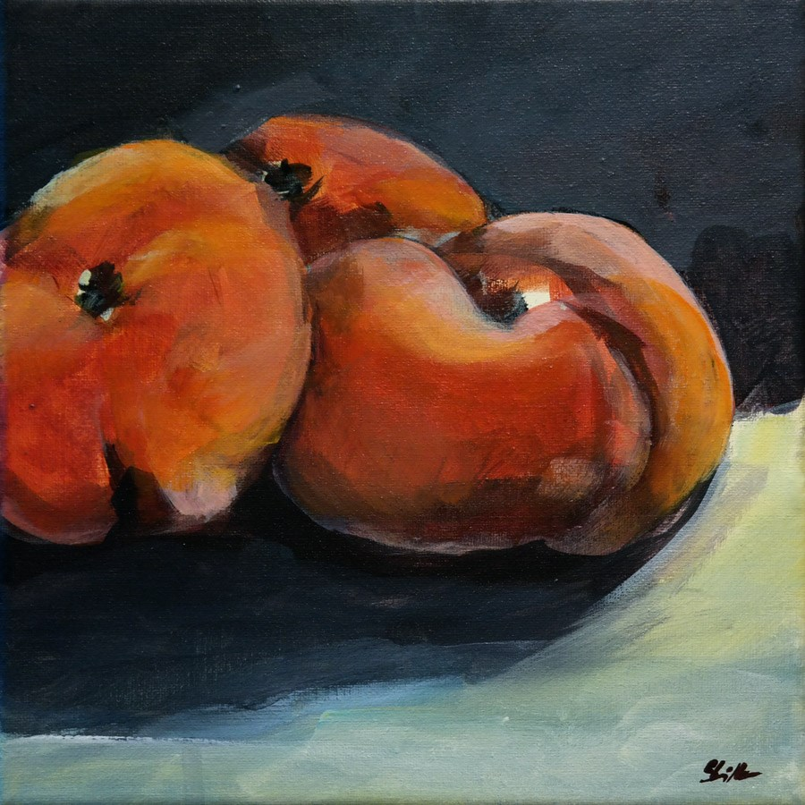 """1482 Peaches Demo"" original fine art by Dietmar Stiller"