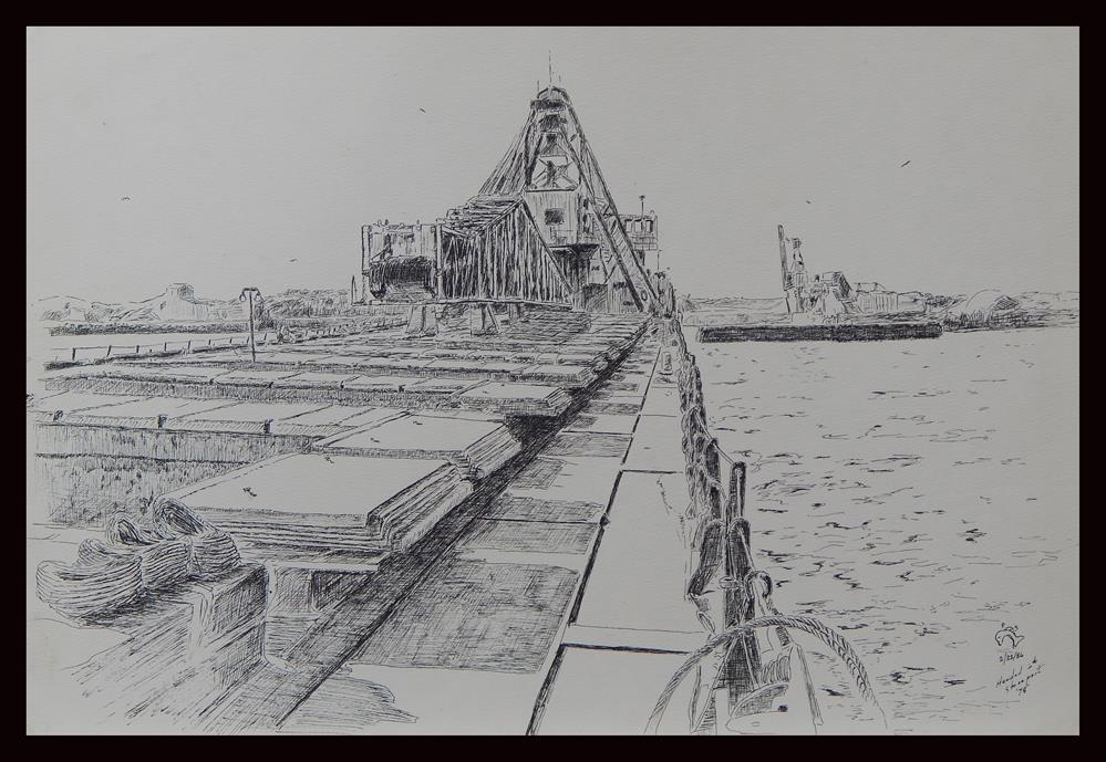 """""""Inbound Stoneport"""" original fine art by Captain B Smith"""
