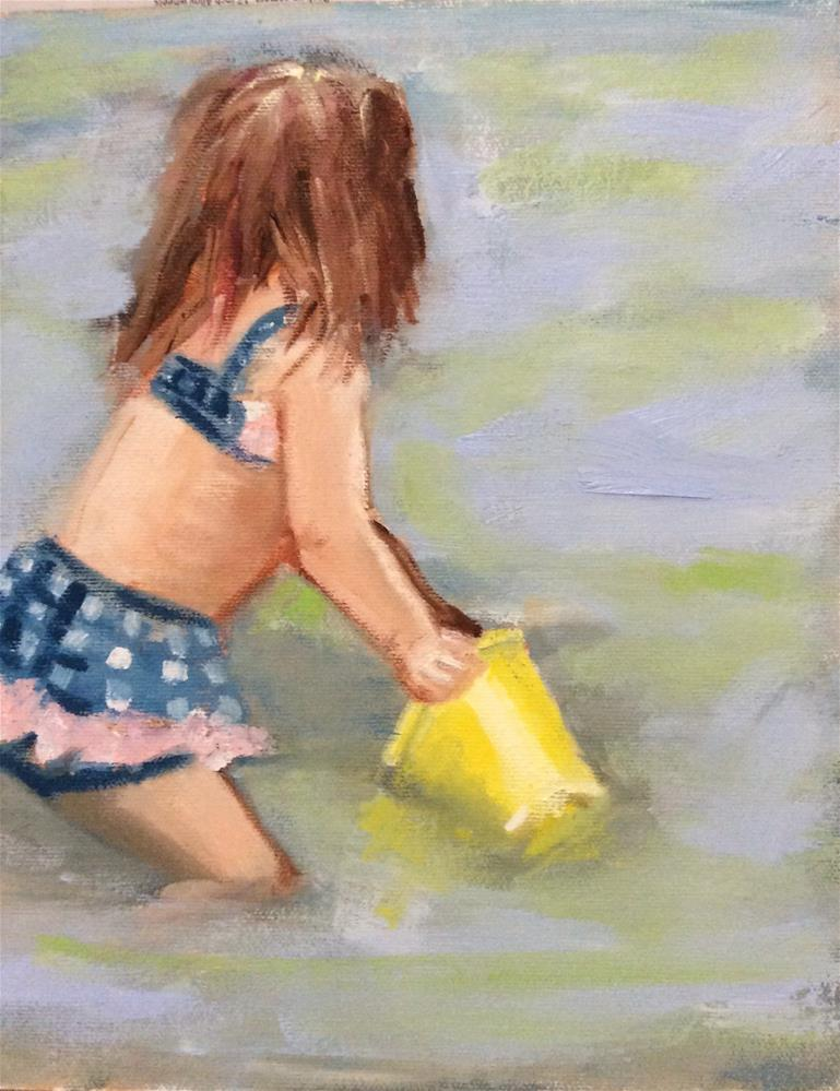 """Yellow Pail"" original fine art by Patty Barnes"