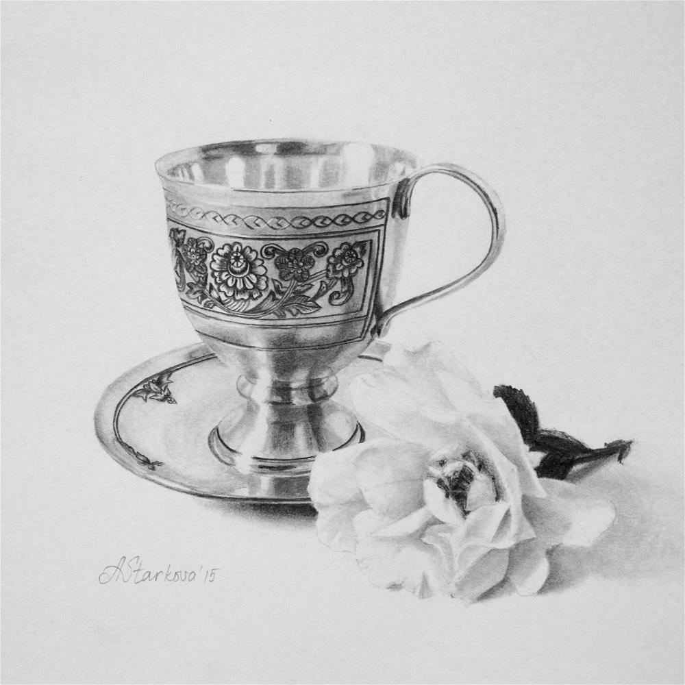"""Tea rose"" original fine art by Anna Starkova"