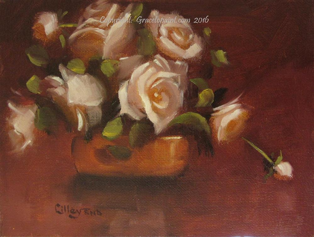 """Roses in Brass"" original fine art by Maresa Lilley"