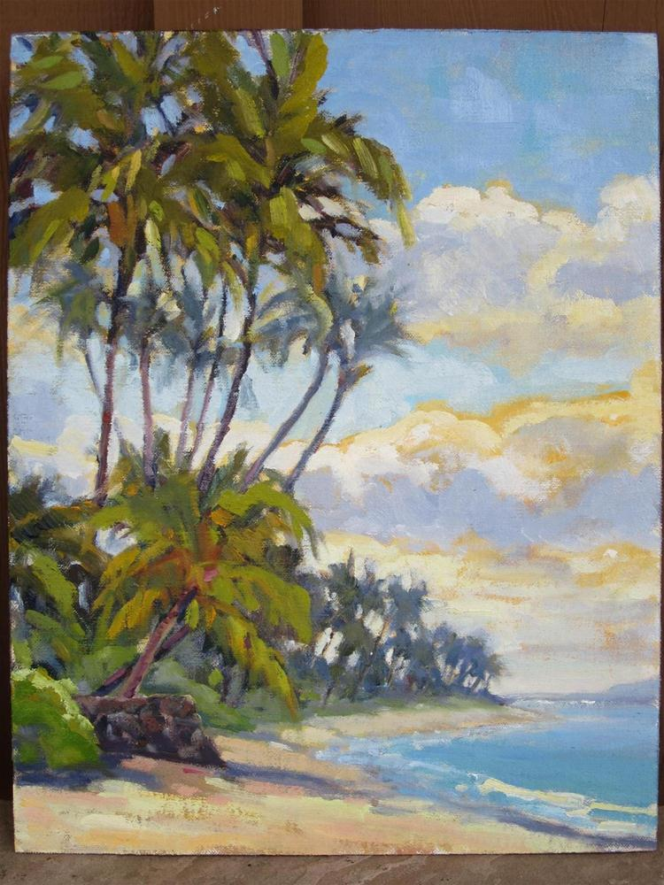 """maui shore"" original fine art by Leigh Alexandra Sparks"