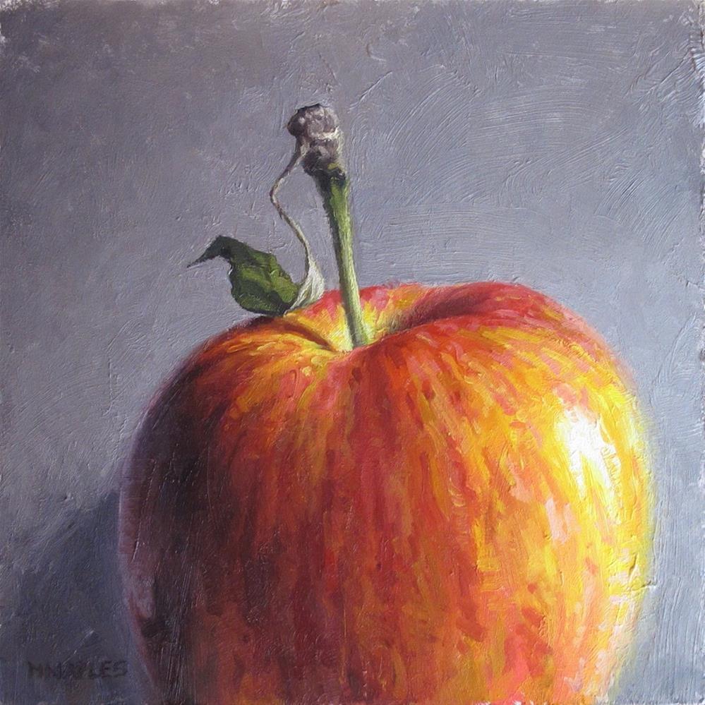 """Apple Stem with Leaf"" original fine art by Michael Naples"