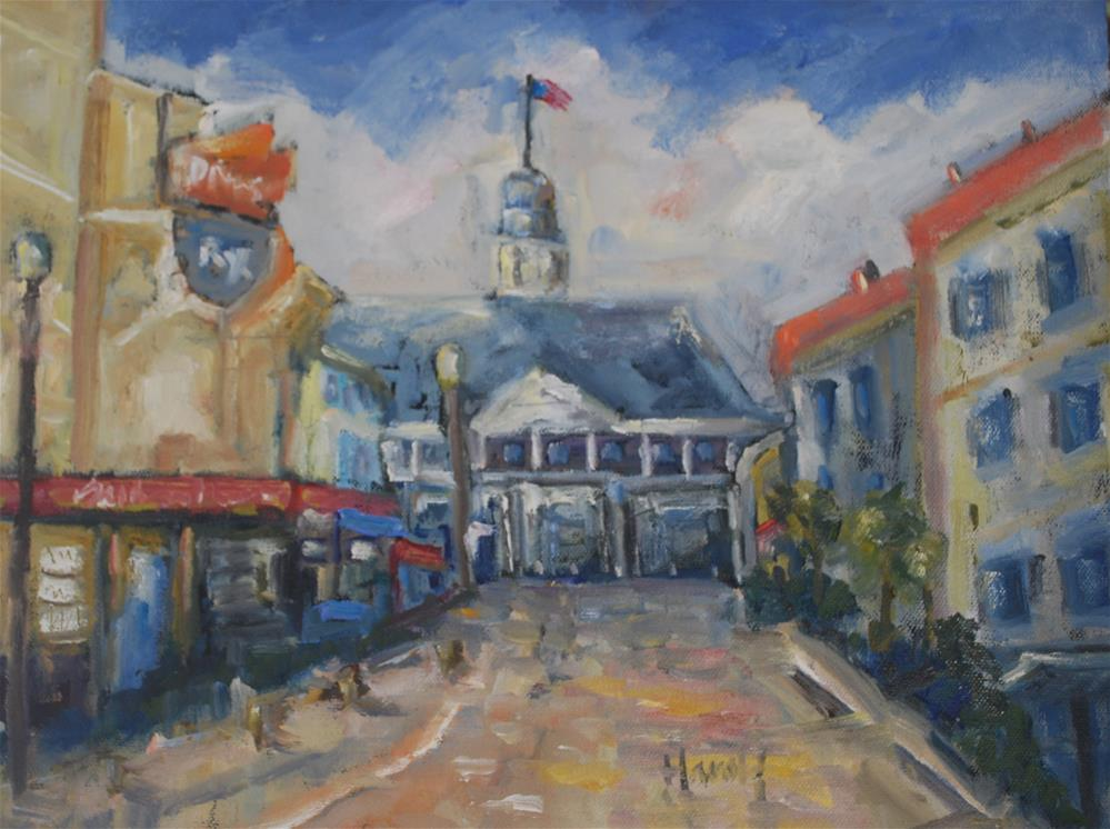 """Pavilion at Balboa Island"" original fine art by Deborah Harold"