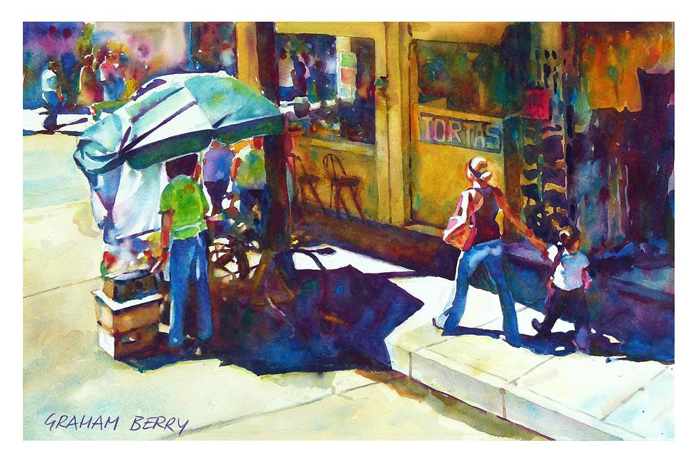 """Street life"" original fine art by Graham Berry"
