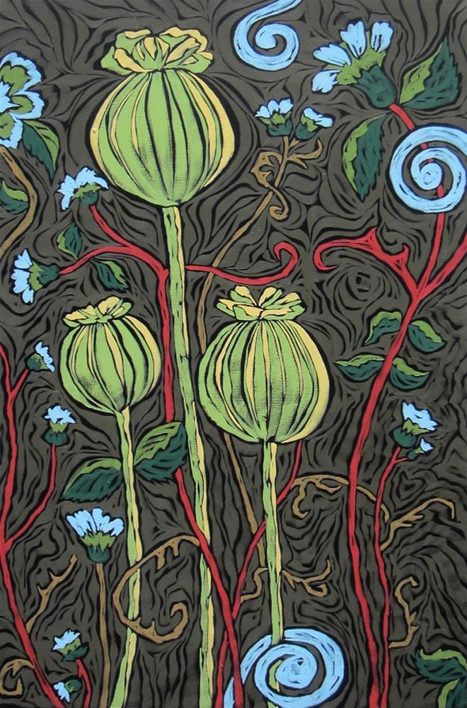 """Poppy Persuasion"" original fine art by Monique Straub"