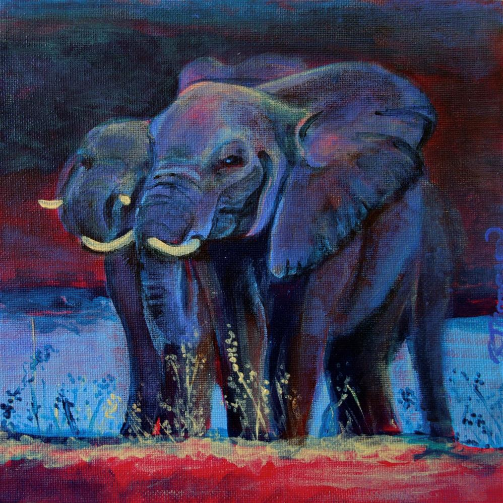 """Waterhole"" original fine art by Rachel Thompson"