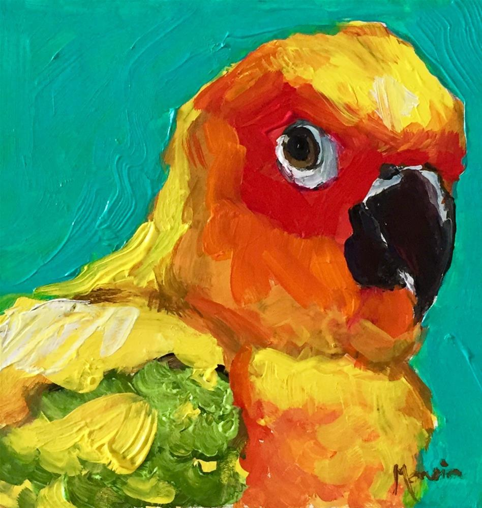 """I've Got My Eye On You"" original fine art by Marcia Hodges"