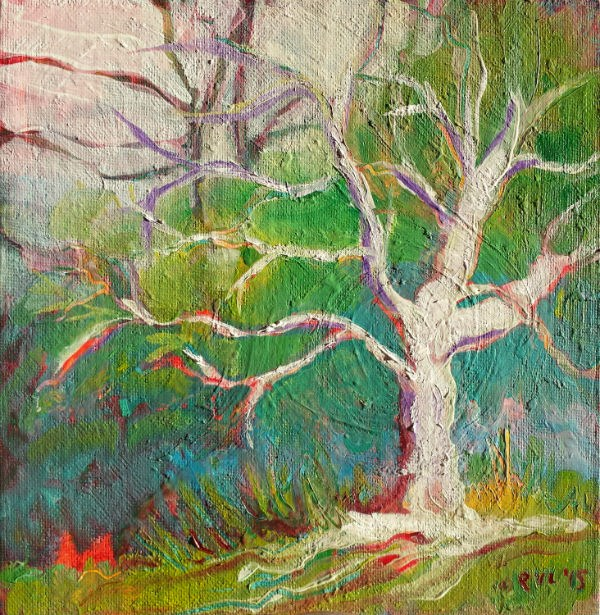 """Park Trees 18 landscape oil painting"" original fine art by Pam Van Londen"