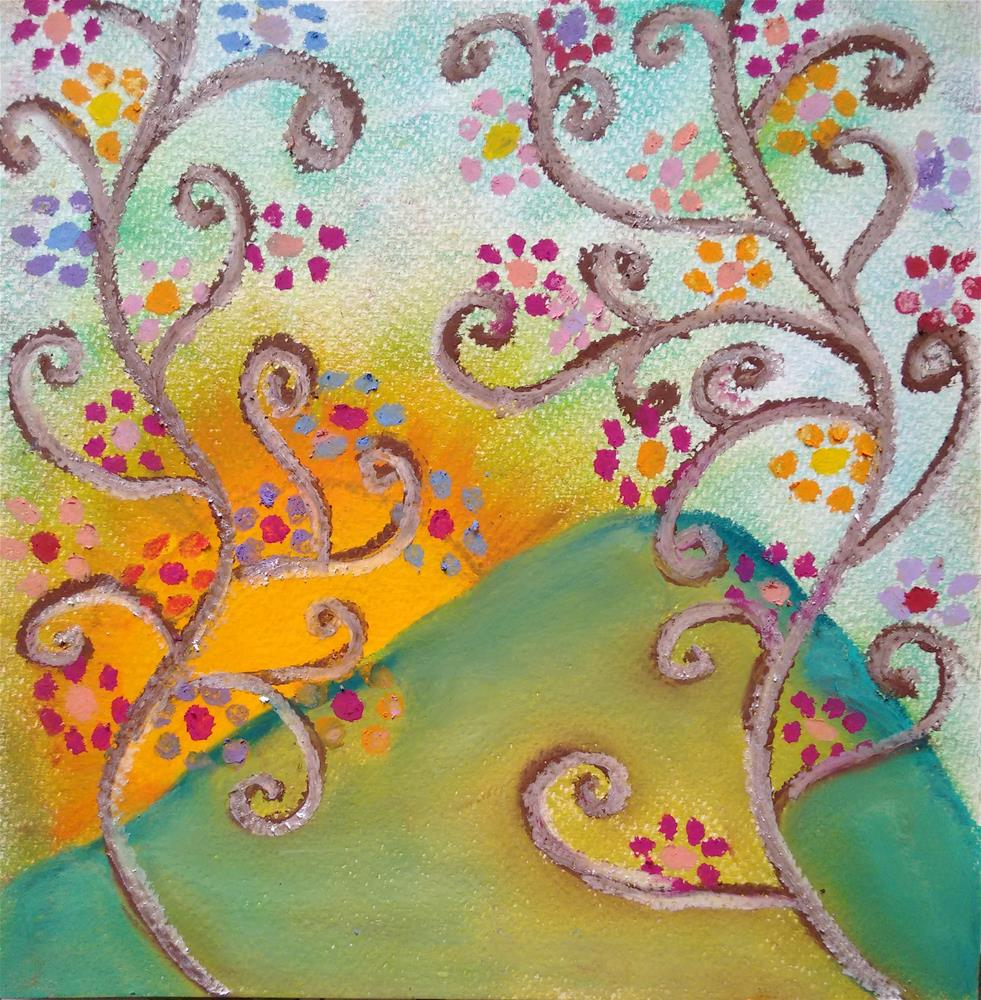 """The Healing Song"" original fine art by Adéla Svobodová"