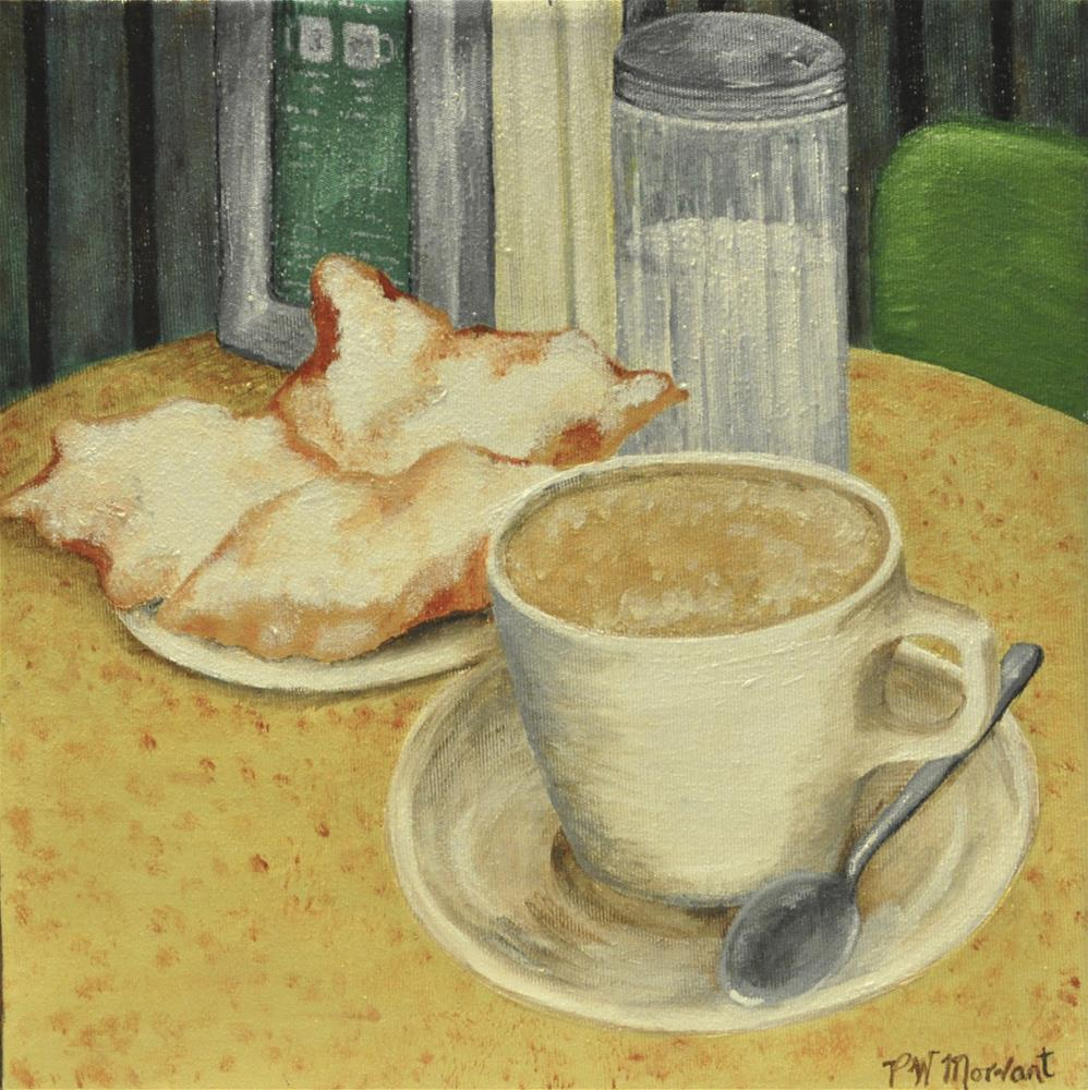 """Beignets & Cafe au Lait"" original fine art by Peggy W Morvant"