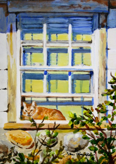 """Front Row Seat"" original fine art by JoAnne Perez Robinson"