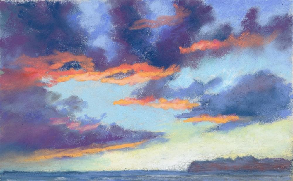 """Sunset Around the Corner"" original fine art by Christine Derrick"