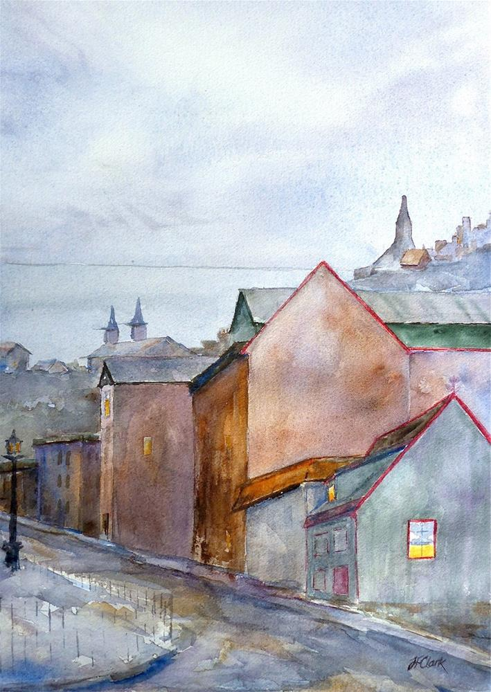 """Reykjavik at Dusk"" original fine art by Judith Freeman Clark"