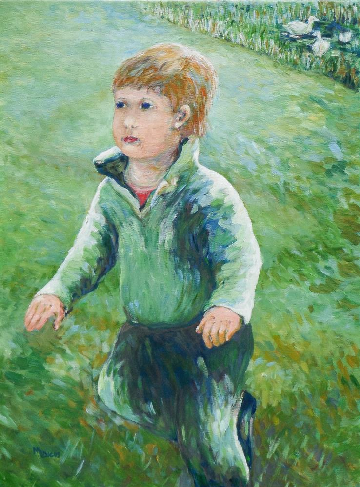 """Boy at the Park"" original fine art by Mj Dicus"