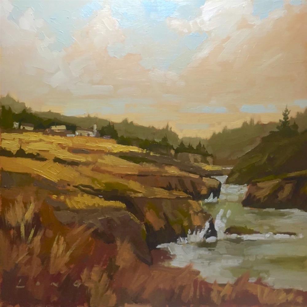 """Mendocino Cliffs"" original fine art by Chris Long"