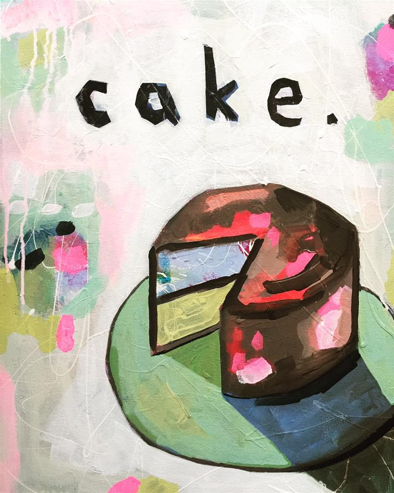 """345 Cake"" original fine art by Jenny Doh"