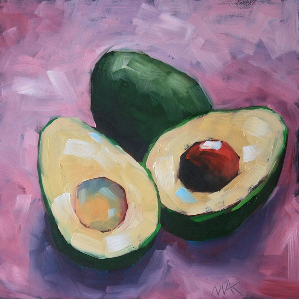 """Alligator Pear"" original fine art by Mary Anne Cary"