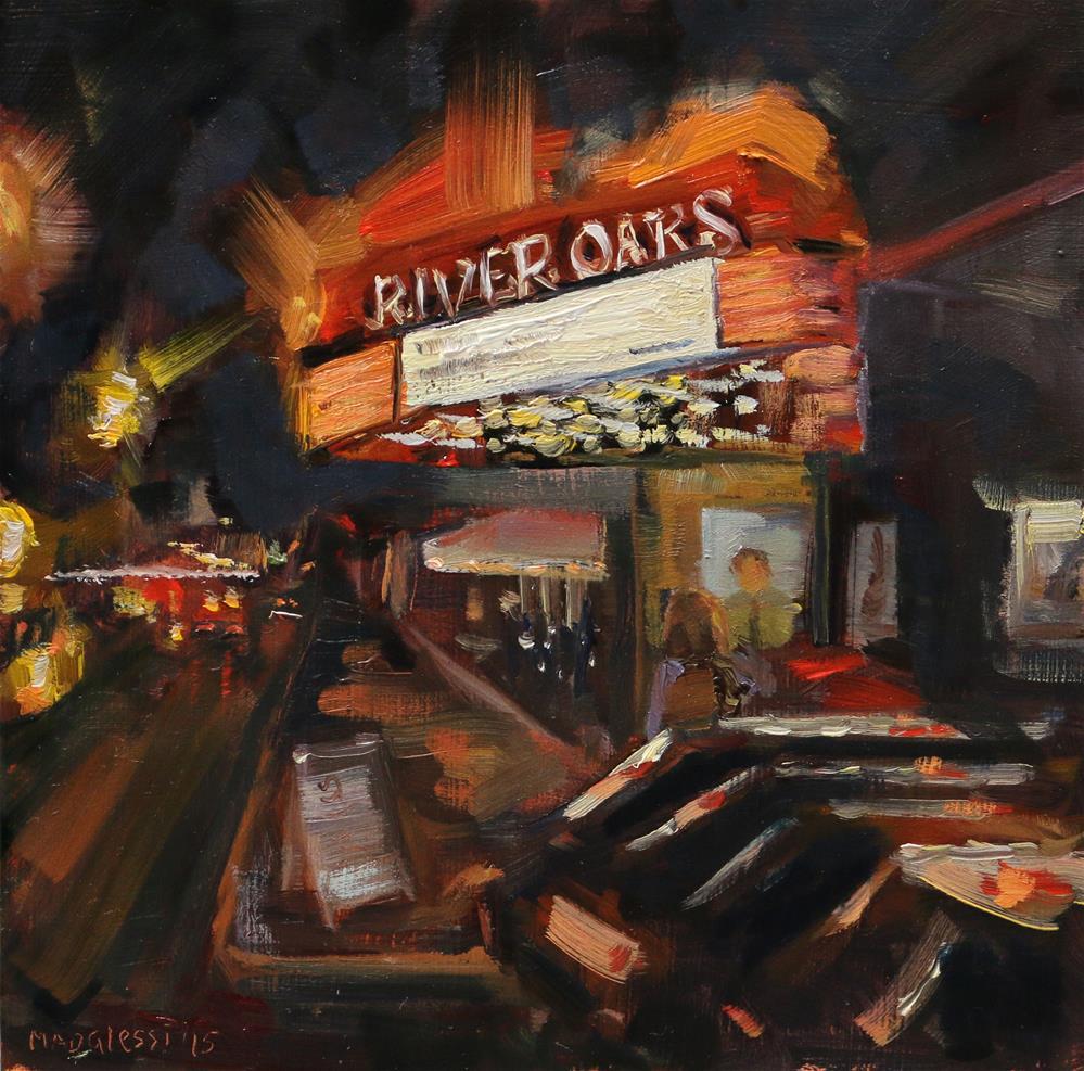 """""""River Oaks theatre"""" original fine art by Miranda Dalessi"""