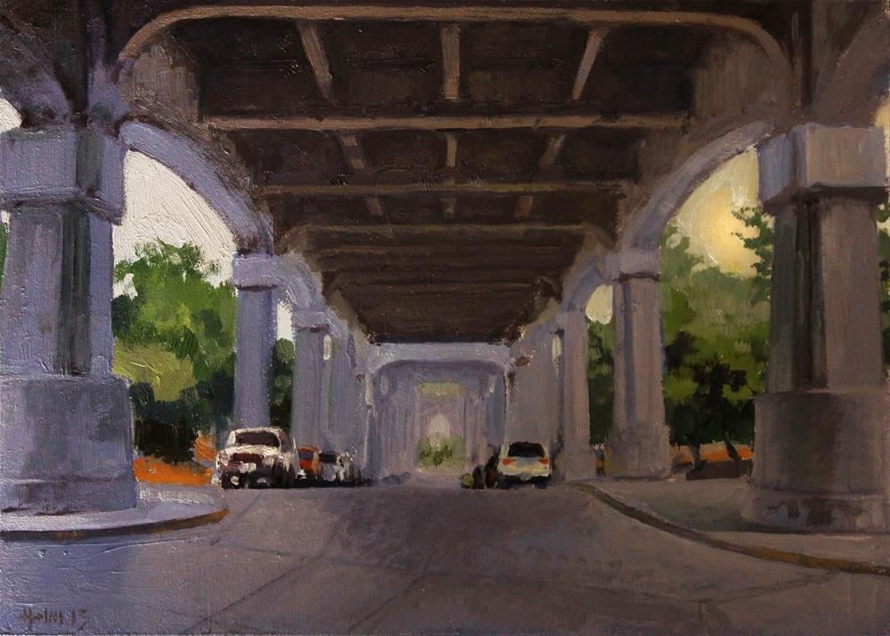 """Under the Overpass"" original fine art by Ski Holm"