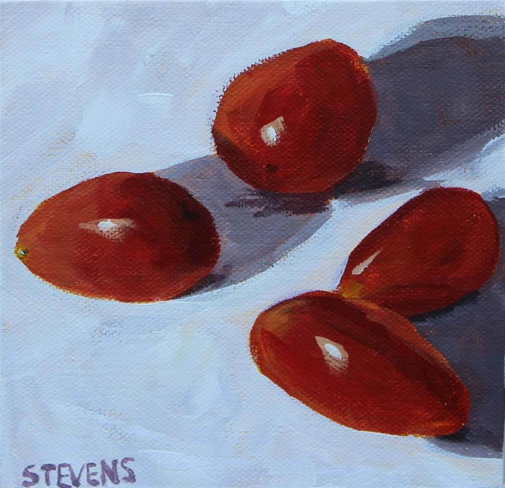 """Cherry Tomatoes"" original fine art by Jamie Stevens"