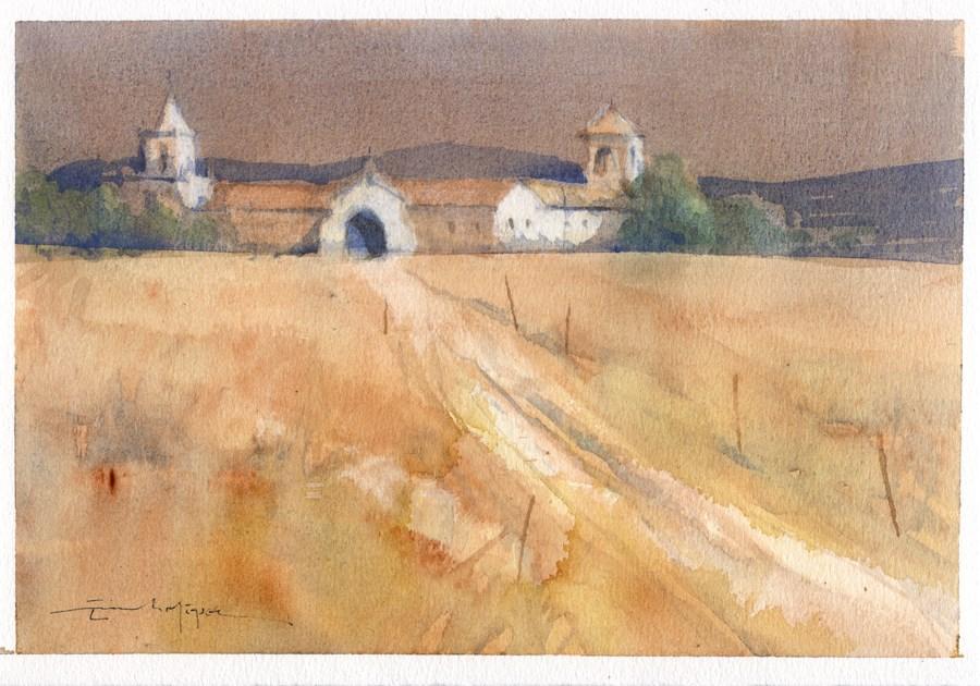 """Seville countryside 10"" original fine art by Emilio López"