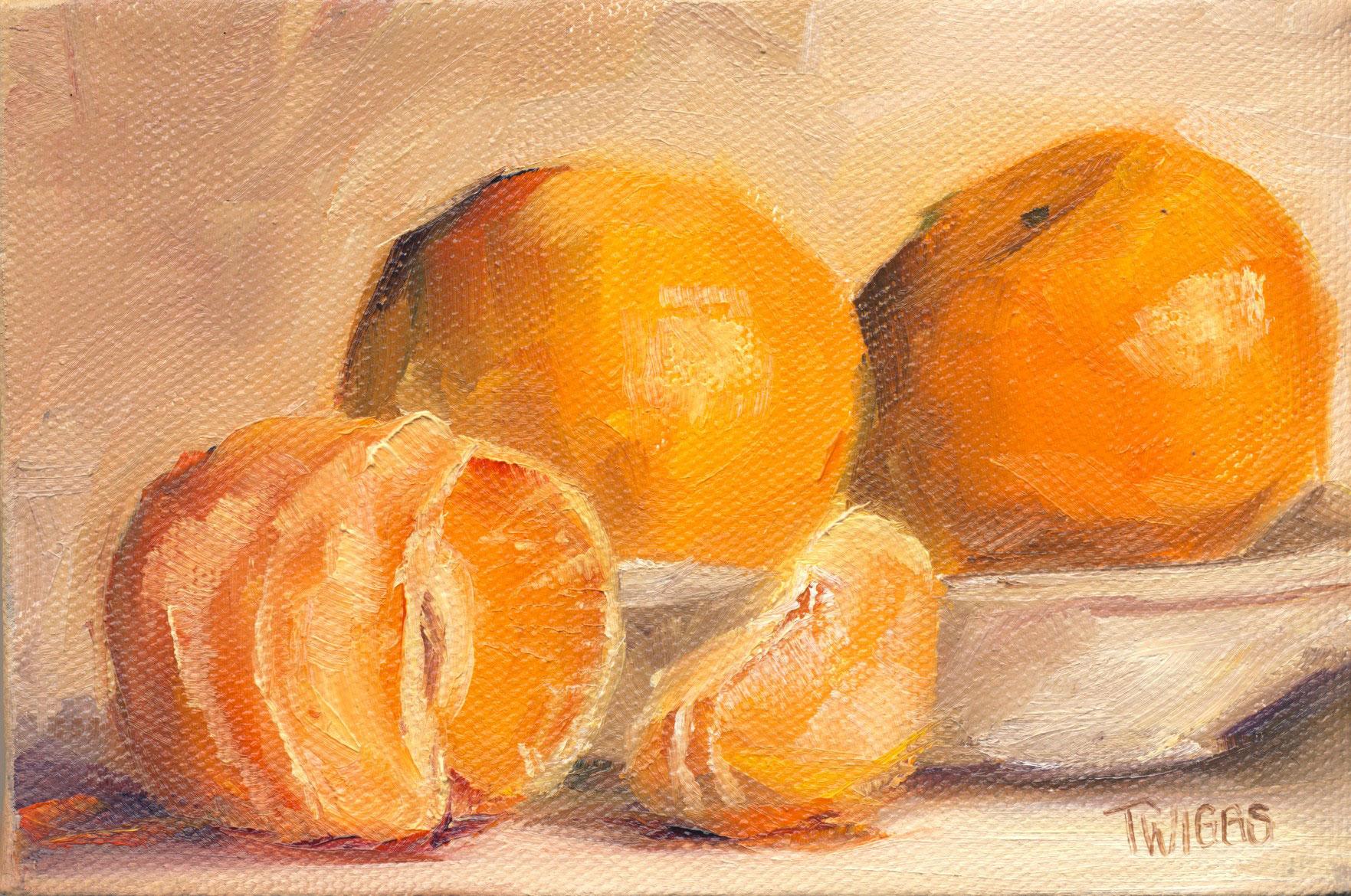 """Clementines 8"" original fine art by Lori Twiggs"