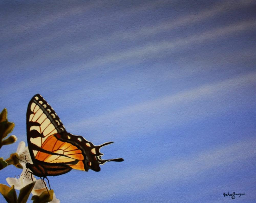 """Spring Wings"" original fine art by Fred Schollmeyer"