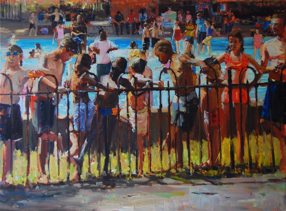 """Summerlight, Clapham Common"" original fine art by Adebanji Alade"