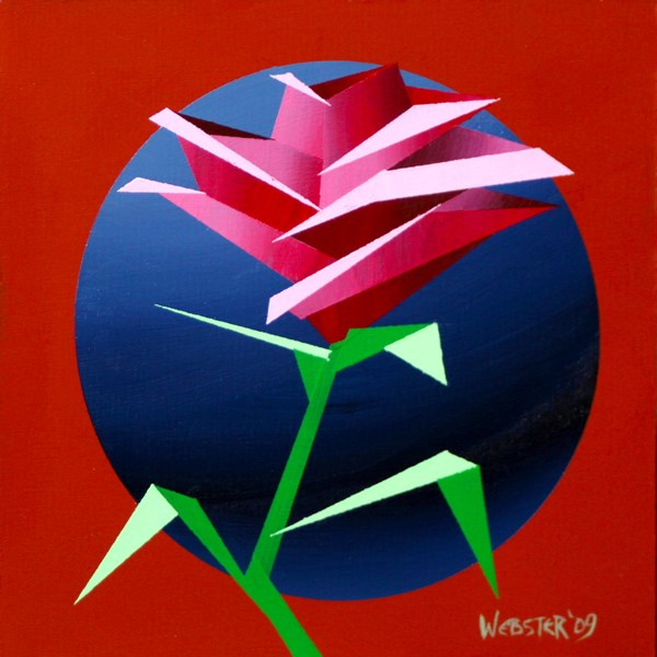 """Mark Webster - Abstract Geometric Rose #3 Acrylic Painting"" original fine art by Mark Webster"
