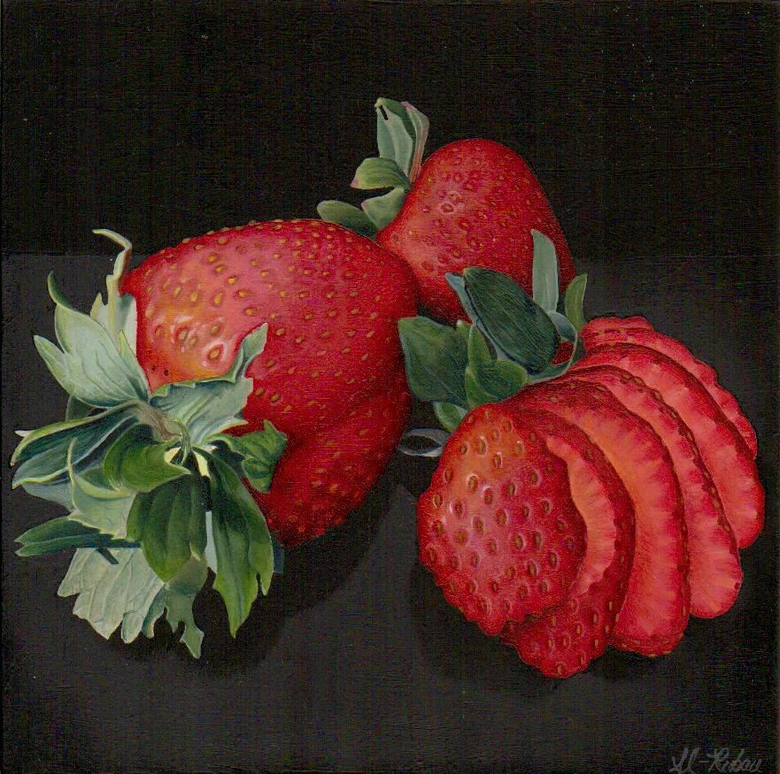"""Strawberries"" original fine art by Catherine Al-Rubaie"