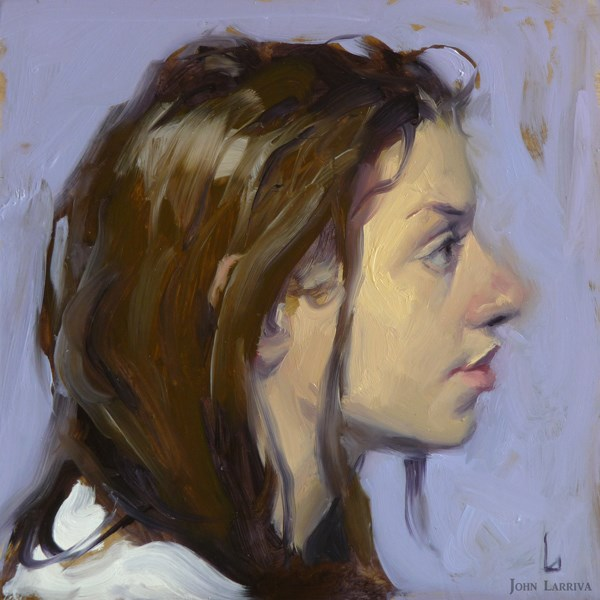 """On Periwinkle"" original fine art by John Larriva"