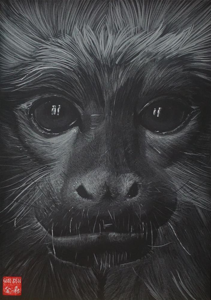 """Year of the monkey"" original fine art by Gin Sen"