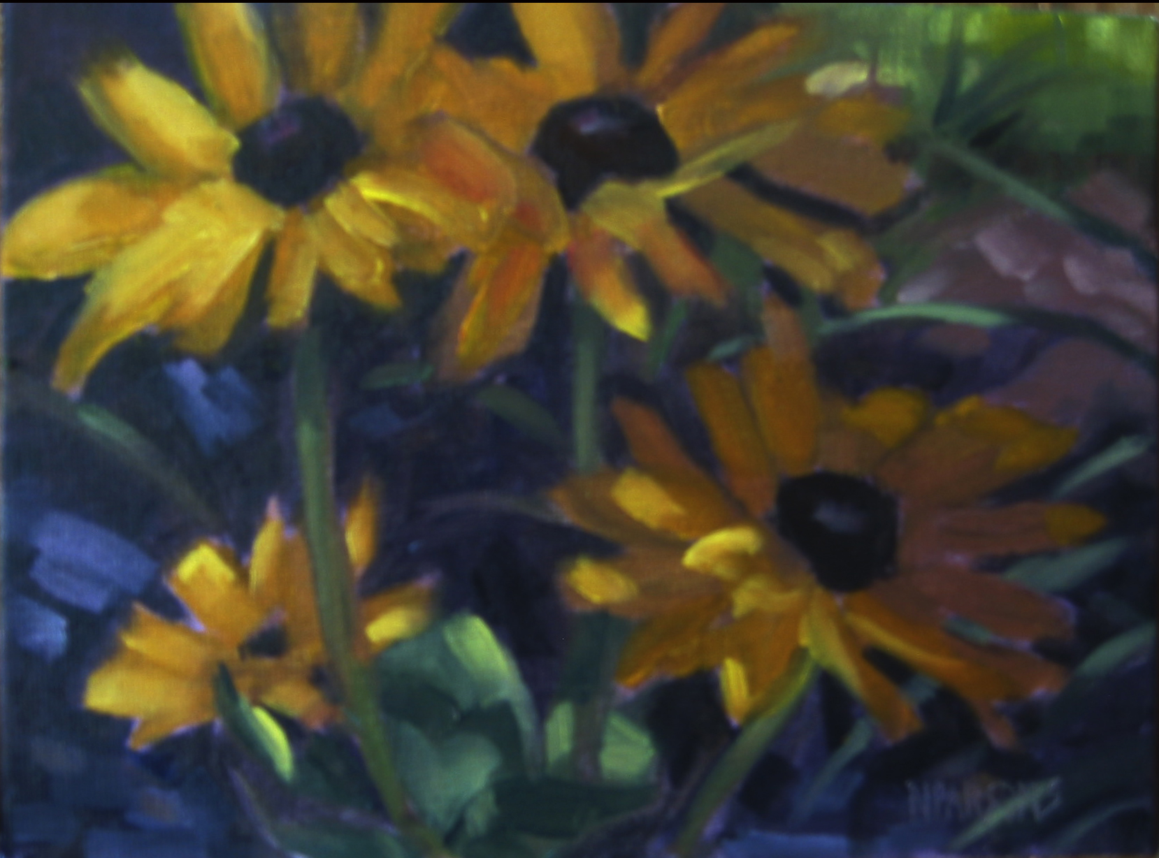 """Flower Power"" original fine art by Nancy Parsons"