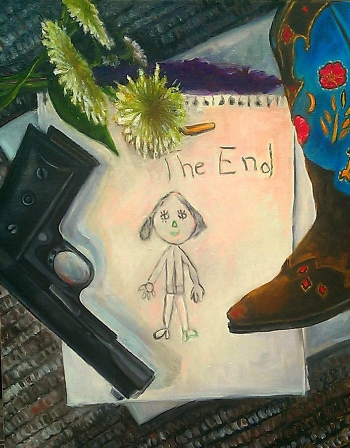 """The end"" original fine art by Hilary J. England"