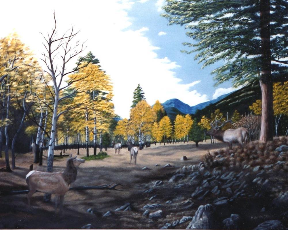 """Estes Park, Colorado"" original fine art by John Marcum"